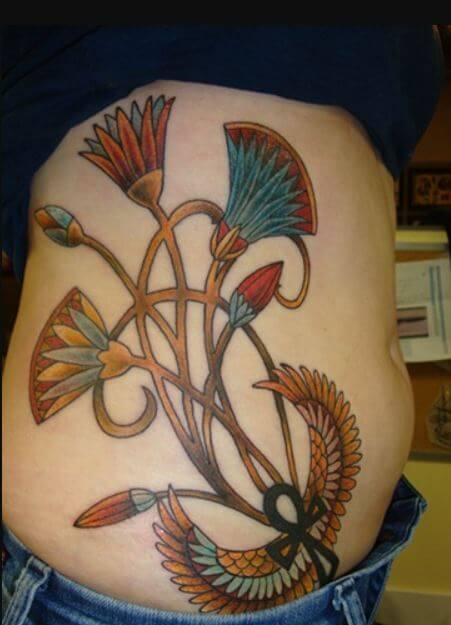 Egyptian Flower Tattoo