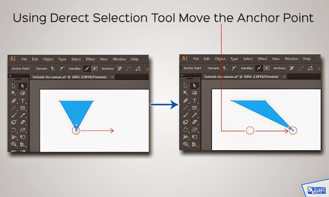 Using Direct Selection Tool