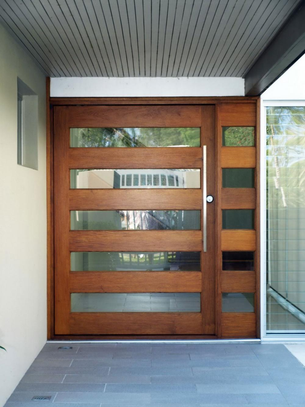 Modern front doors with one side panel decor units - Modern front door designs ...