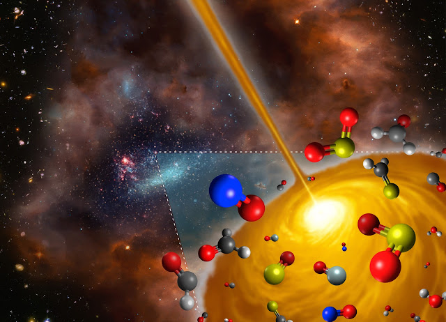 Artist's impression of the hot molecular core discovered in the Large Magellanic Cloud