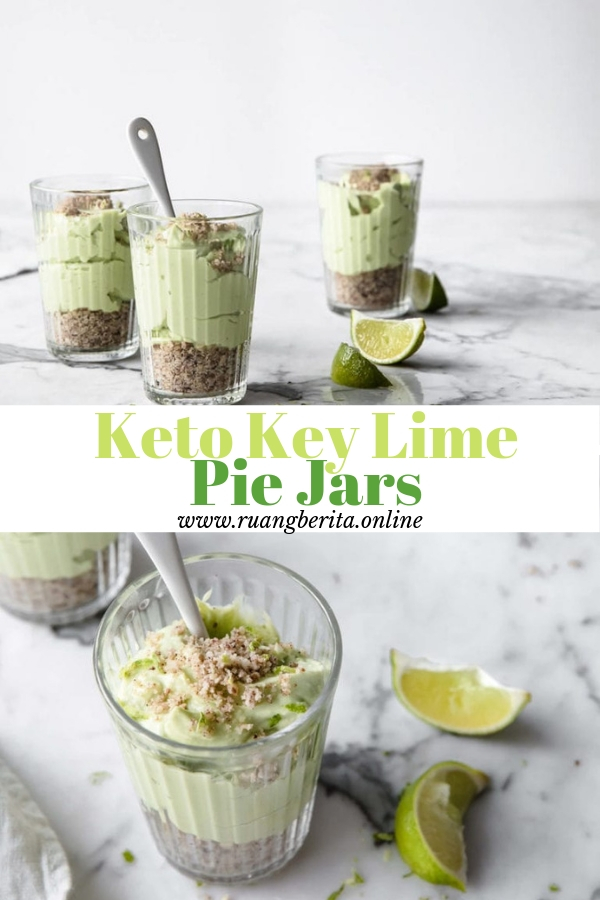 Keto Key Lime Pie Jars #summer #dessert #keto #key #lime #pie #jar
