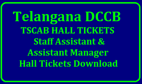 Telangana DCCB Hall Ticket 2019 | TSCAB Staff Asst & Asst Manager Exam DateDownload Telangana DCCB SA & AM Hall Ticket 2019/2019/01/telangana-dccb-hall-tickets-2019-tscab-staff-assistant-manager-exam-date-tscab.org.html