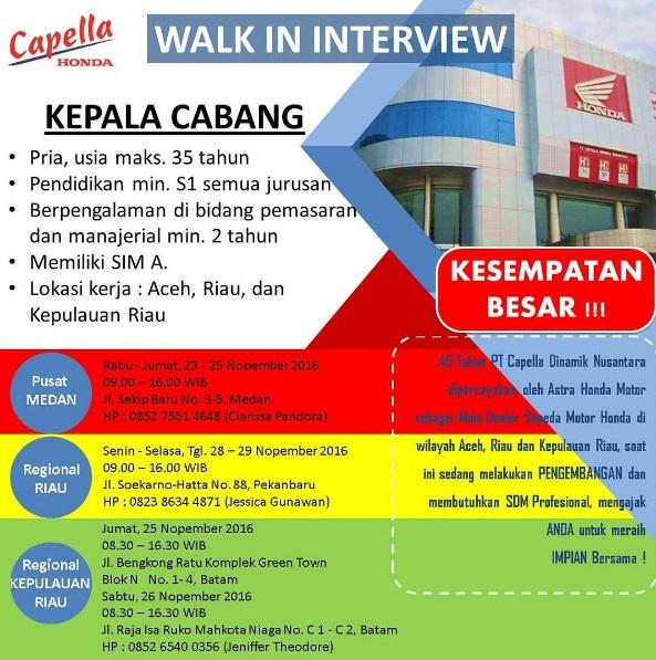 Lowongan Kerja PT Capella Dinamik Nusantara Aceh dan Riau