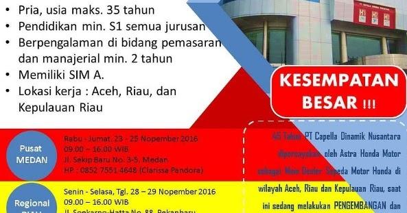 Lowongan Pekerjaan PT Capella Dinamik Nusantara (Astra