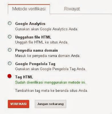 Cara Daftarkan Blog Di Webmaster Tools Terbaru