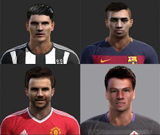 Faces: Mario Gomez, Munir, Juan Mata, Norberto Neto, Pes 2013