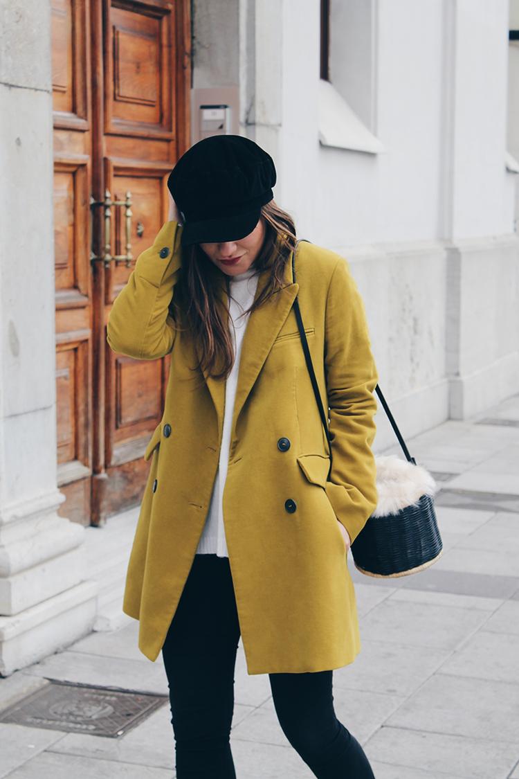 outfit abrigo amarillo blog de moda