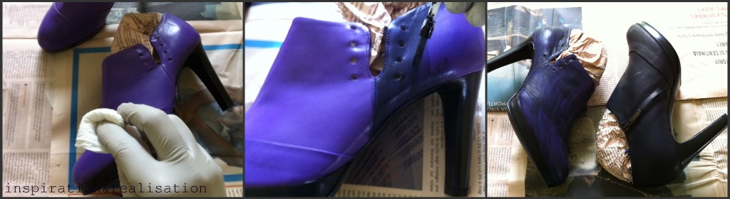 purple and black leather shoes inspiration and realisation diy fashion blog perfect black