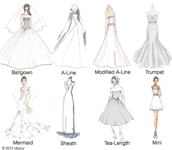 K'Mich Weddings - wedding planning - different dress styles