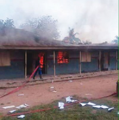 Chaos as Secondary School Students Set their Own Classrooms on Fire in Oyo...You Won't Believe Why