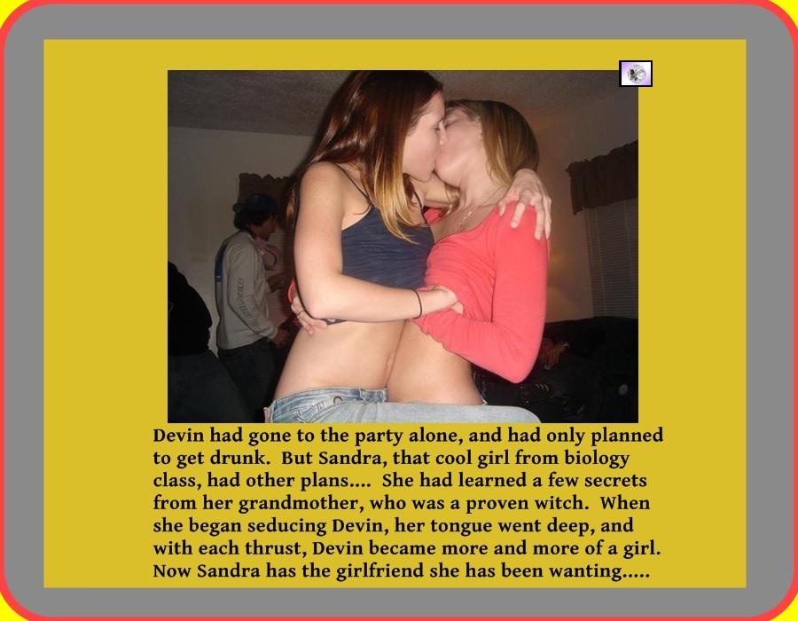 Hot lesbian milf seduces straight girl 3