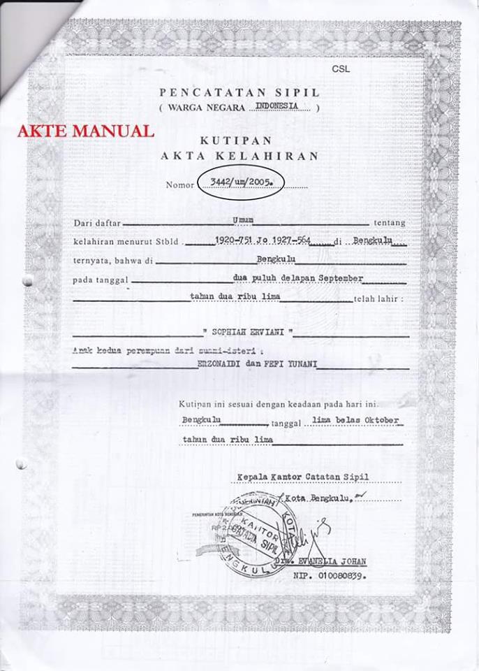 Cara Isi atau Input Nomor Registrasi Akta Kelahiran Pada ...