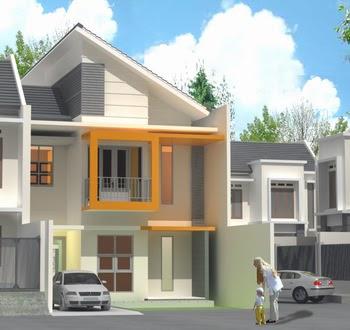 sketsa rumah minimalis tingkat
