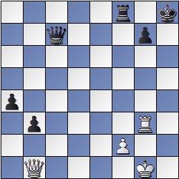 Posición de la partida de ajedrez Maroczy contra Golmayo, Olimpiada de Londres de 1927