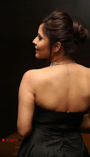 Telugu Anchor Actress Anasuya Bharadwa Stills in Strap Less Black Long Dress at Winner Pre Release Function  0026.jpg