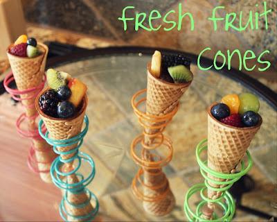 Fruit in a cone