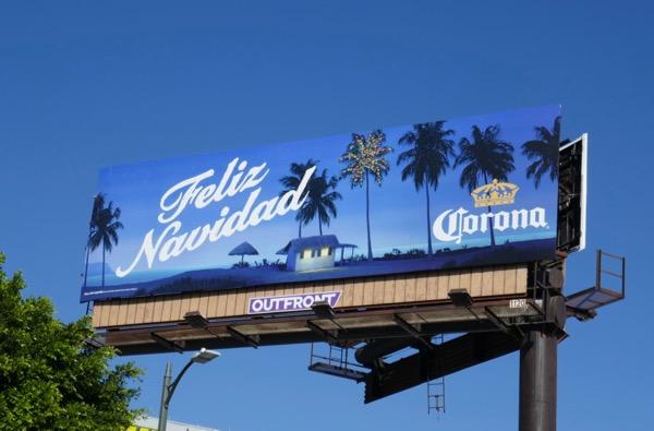 Feliz Navidad Corona beer billboard