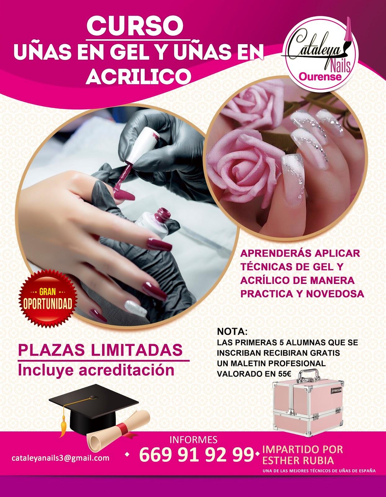 Curso Uñas De Gel Y Acrílico Profesional Cataleya Nails