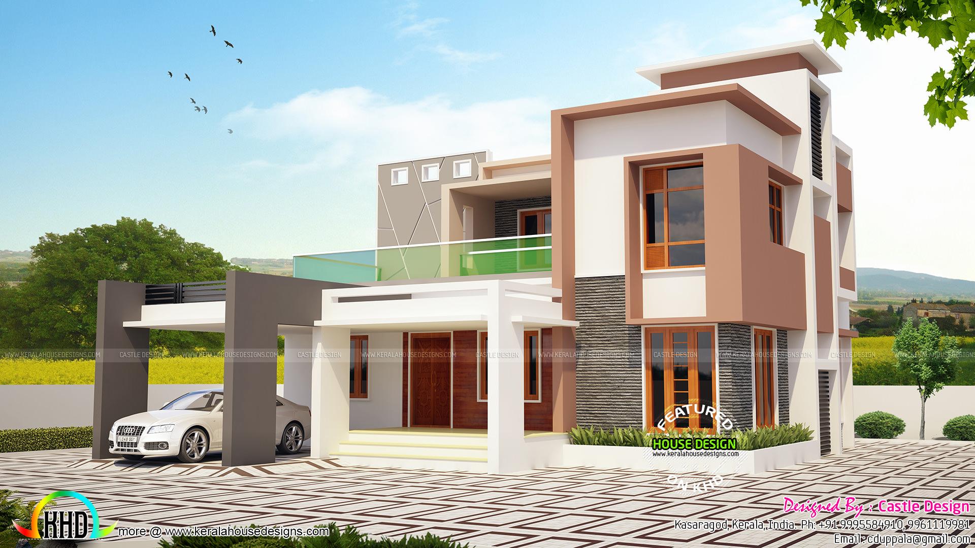 4 BHK modern contemporary 2100 sq-ft - Home Design Decor