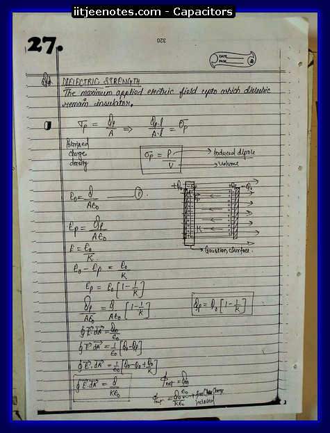 Capacitors notes cbse2