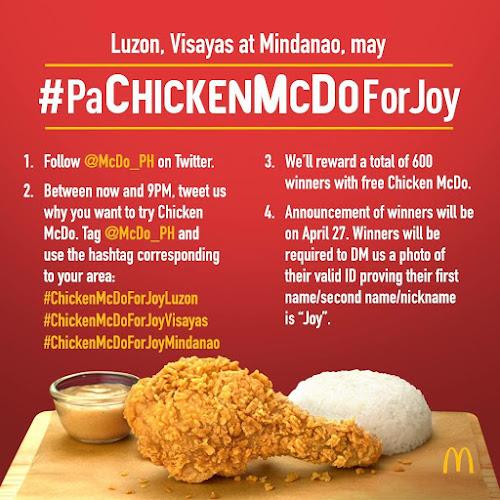 Pa-Chicken McDo for Joy