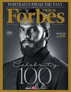Sonam Kapoor Akshay Kumar Alia Bhatt Virat Kohli Ranveer Sing 5 Cover Forbes India Magazine Celebrity 100 Jan 2017