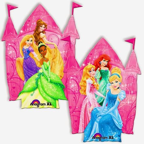 Фольгированные шарики с принцессами
