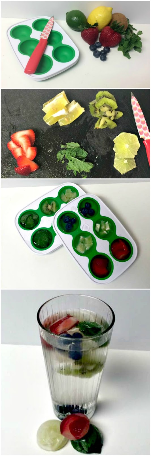 Flavor Infused Ice Cubes for a Refreshing Summer Drink