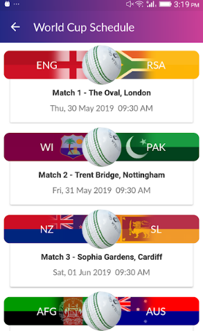 ICC Cricket World Cup 2019 official free live streaming App and
