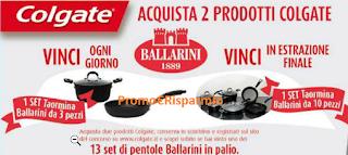 Logo Concorso Colgate : vinci 13 set pentole Ballarini