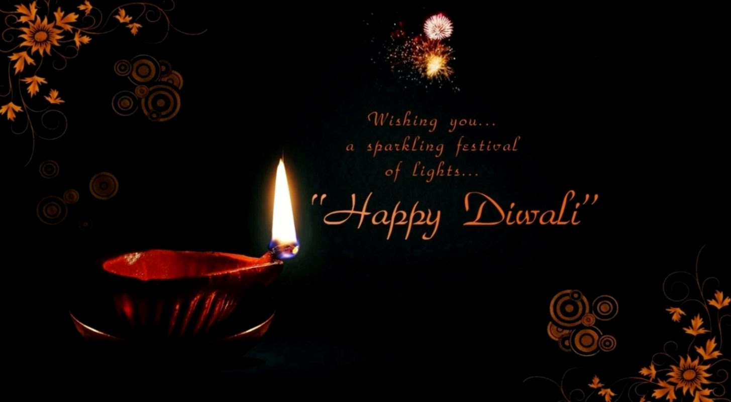Happy Deepavali Greetings Card Khushi For Life May Happiness And Colorful In Your Life