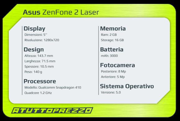 asus zenfone 2 laser ze550kl scheda tecnica