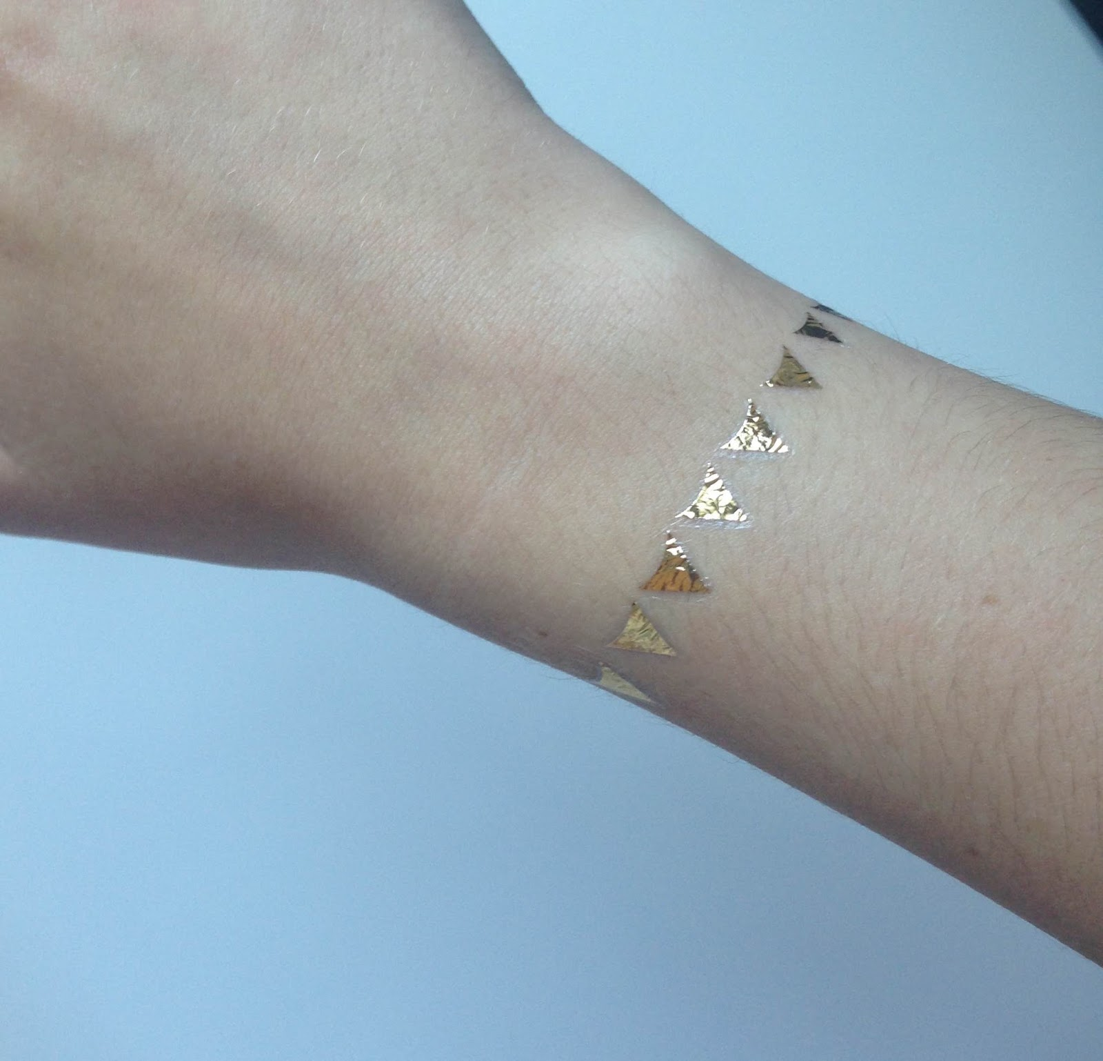 Gold Metallic Jewellery Tattoo Leah Marriott