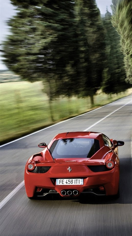 Red Ferrari Sports Car   Galaxy Note HD Wallpaper