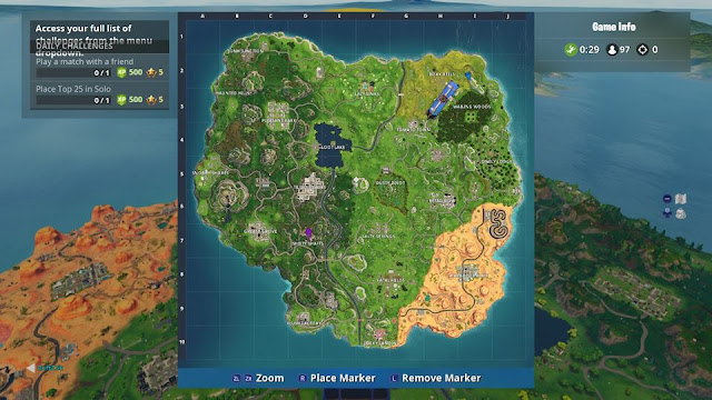 Fortnite Nintendo Switch user interface experience problems DAILY CHALLENGES map screen