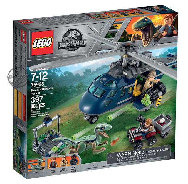 Toy Fair 2018 LEGO Jurassic World Blue's Helicopter Pursuit