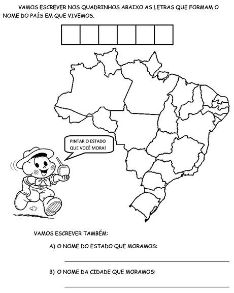Atividades Com Turma Da Monica Semana Farroupilha Desenhos