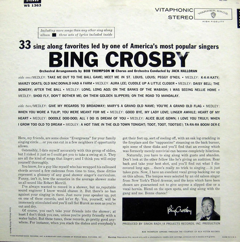 Espo\'s Vinyl Right Angle: Bing Crosby.