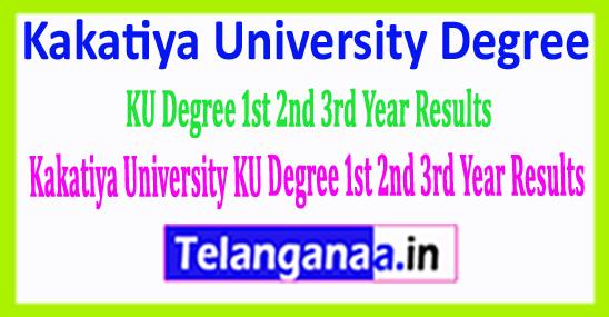 Kakatiya University KU Degree 1st 2nd 3rd Year Results 2018