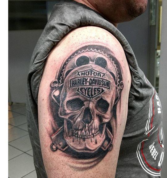 cool biker tattoos ideas