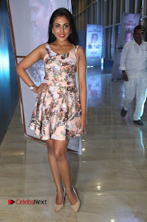 Actress Madhu Shalini Stills in Floral Short Dress at RGV Shiva to Vangaveeti Event  0167.JPG