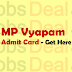 MP Vyapam Samvida Shikshak Admit Card 2017 Varg 1, 2, 3 Hall Ticket