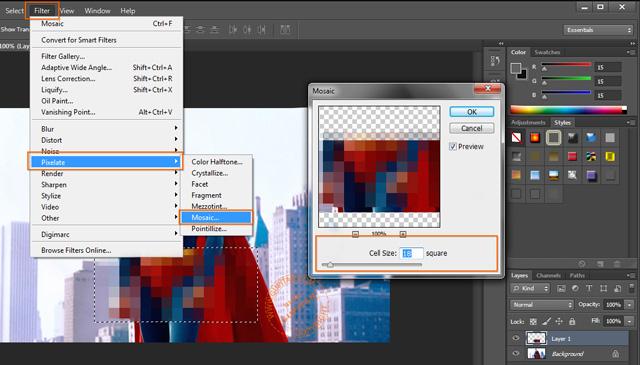 Membuat Efek Sensor pada Foto atau Gambar di Photoshop 3