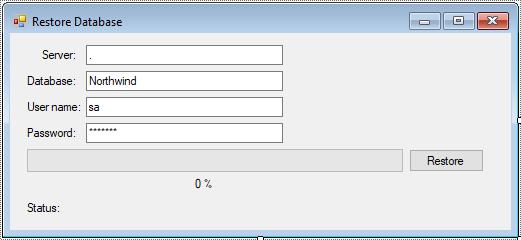 c# restore database