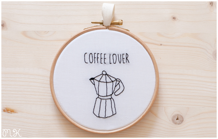Bastidor decorativo Coffee lover