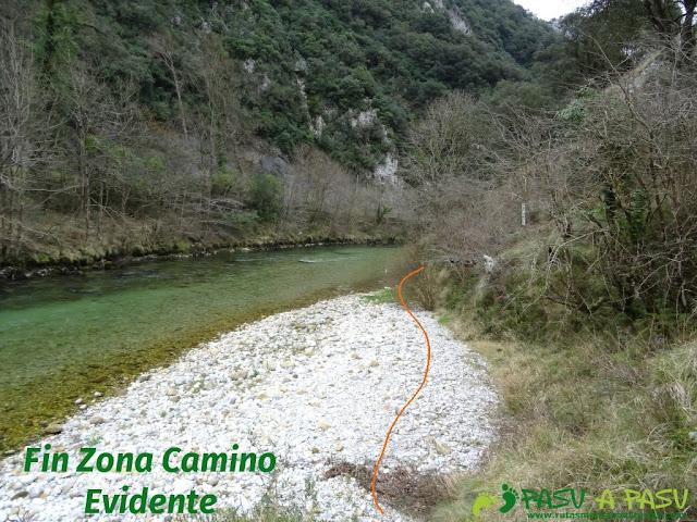 Ruta a la Pica de Peñamellera: Pedrera donde llega la senda de Niserias