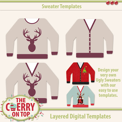 Sweater Templates and printables pack