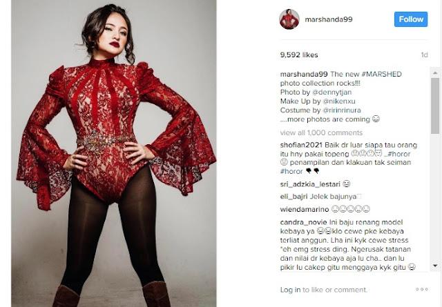 Bikin Gagal Fokus! Artis Marshanda Pamer Baju yang Menuai Kontroversi