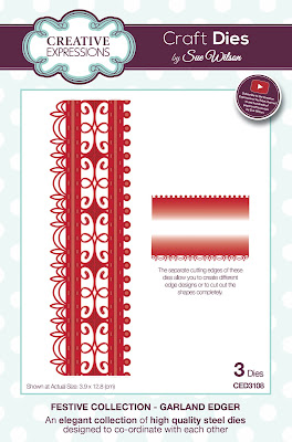 Festive Collection Garland Edger Dies - CED3108