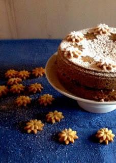 Torta di grano saraceno e mirtilli